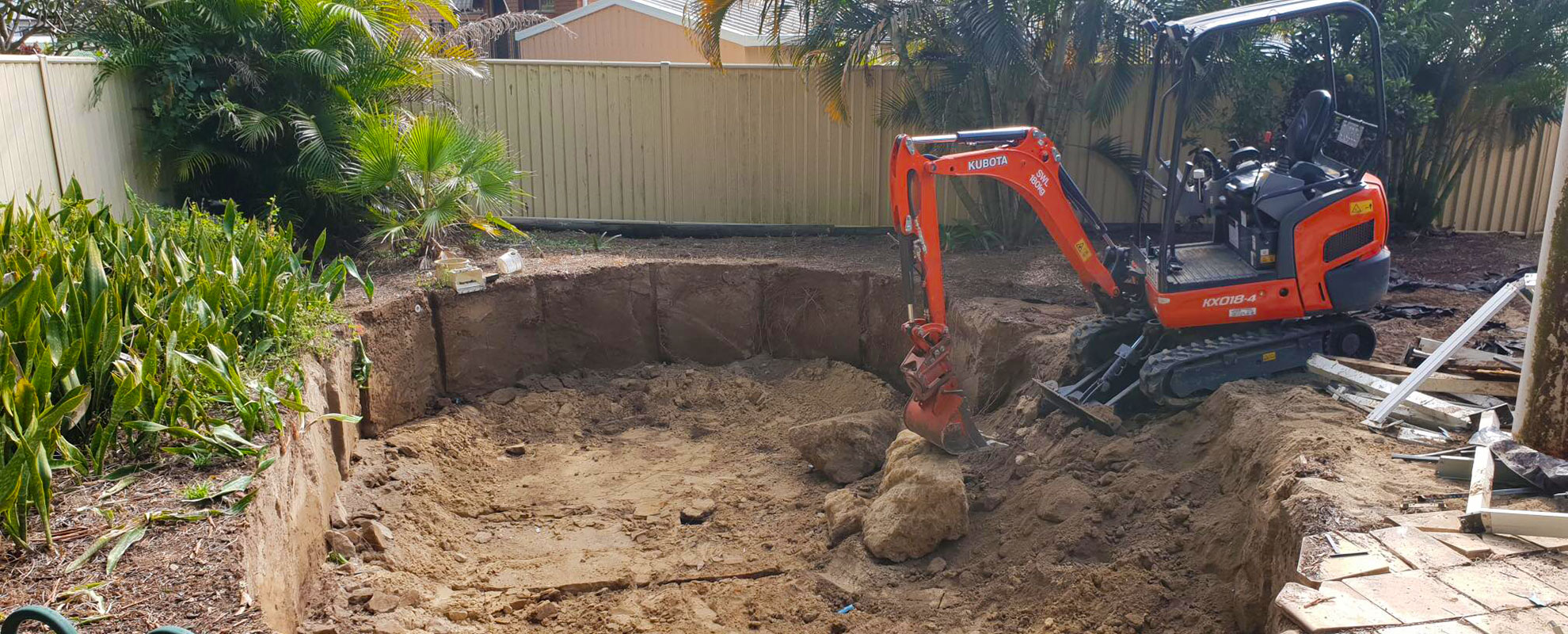 pool dig - earth moving -north-brisbane